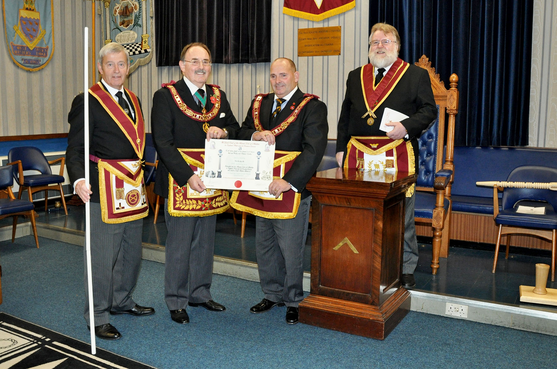 Executive Visit by the Provincial Grand Master to the Court of Prince Edmund