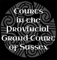 Courts in the Provincial Grand Court of Sussex